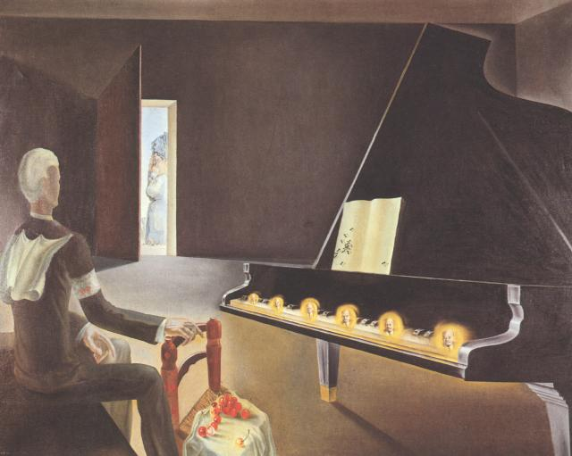 Salvador Dali - Partial Hallucination Six apparitions of Lenin on a Grand Piano 1931
