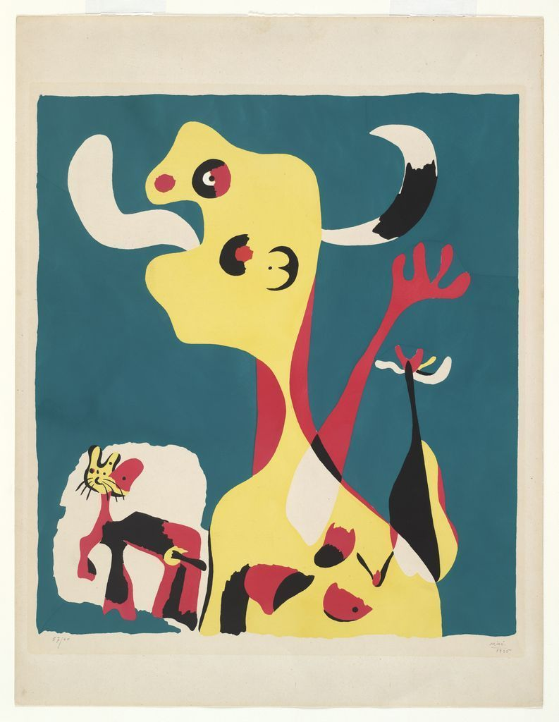 """""""Femme et chien devant la lune"""" de Joan Miró"""